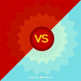 Versus background com geometria