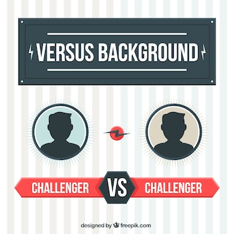 Versus background in flat design