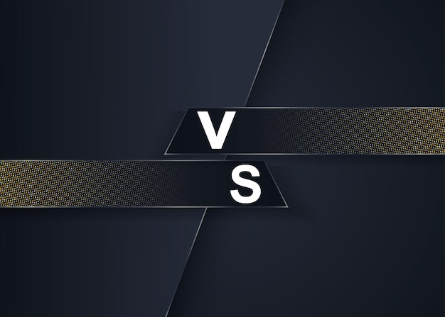 Versus batalha vs fundo abstrato