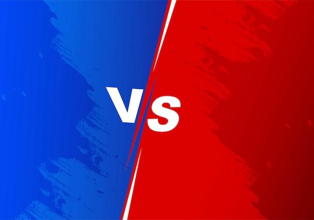 Versus competition tela de fundo azul e vermelho