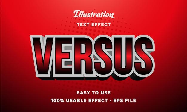 Versus efeito de texto
