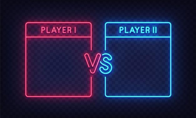 Versus screen neon