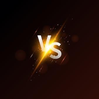 Versus tela. moderno versus fundo com estilo de luxo. desafie a composição com efeito neon.