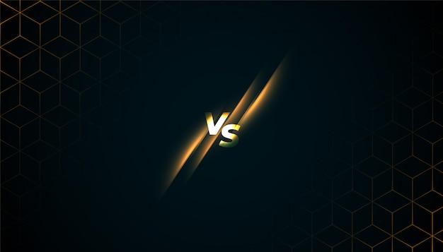 Versus vs batter screen game sports background