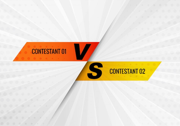 Versus vs concorrente e tela de fundo