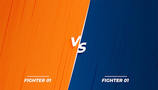 Versus vs luta batalha design de tela de fundo