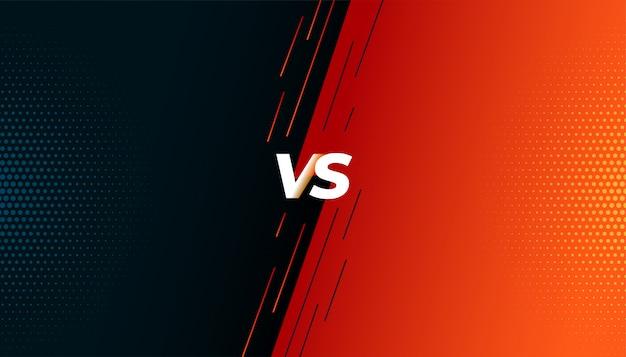 Versus vs luta batalha tela de fundo