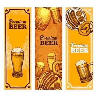 Vertical de banner de cerveja