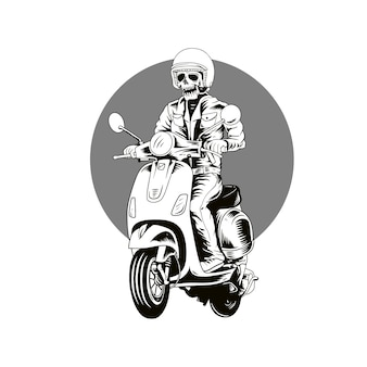 Vespa da motocicleta