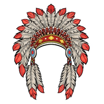 Vestido de cabeça índio nativo americano