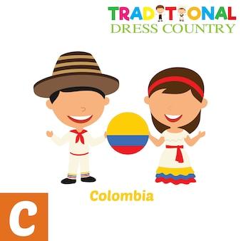 Vestido tradicional país