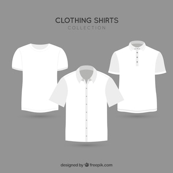 Vestuário de moda t-shirt vetor pacote