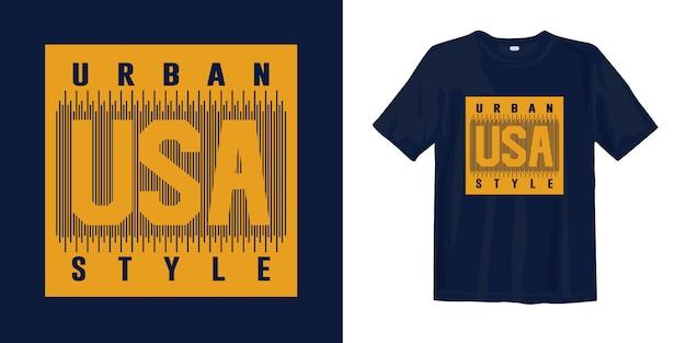 Vestuário gráfico de design de t-shirt de estilo urbano dos eua para impressão