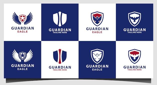 Veterano americano escudo patriótico emblema nacional logo design vector