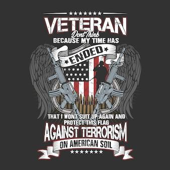 Veterano em solo americano