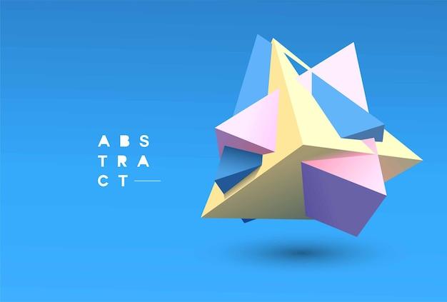 Vetor 3d abstrato de fundo geométrico. ilustração do conceito 3d.