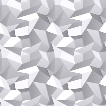 Vetor 3d abstrato de papel amassado sem costura