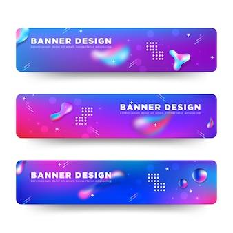 Vetor abstrato banner design web modelo colorido brilhante