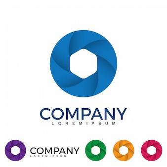 Vetor abstrato círculo redemoinho elementos de design de logotipo