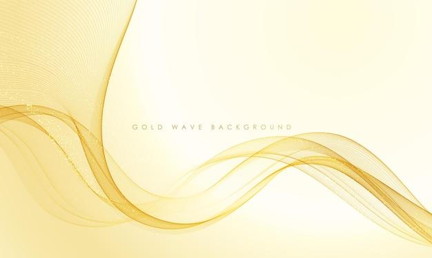 Vetor abstrato colorido fluindo ondas de ouro linhas isoladas no fundo branco elemento de design para cartão de convite de casamento