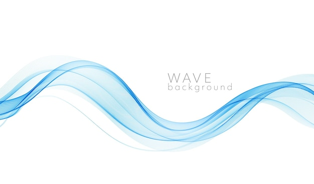 Vetor abstrato colorido linhas de ondas fluidas isoladas no elemento de design de fundo branco para o conceito moderno de ciência de tecnologia