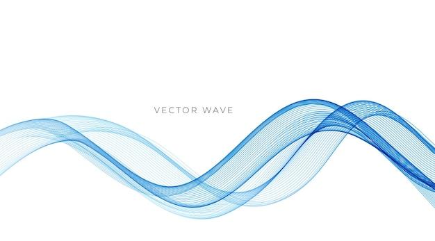 Vetor abstrato colorido linhas de ondas fluidas isoladas no elemento de design de fundo branco
