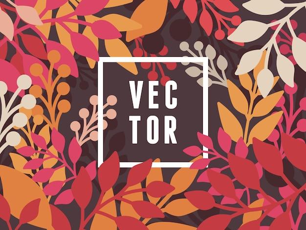 Vetor abstrato com folhas