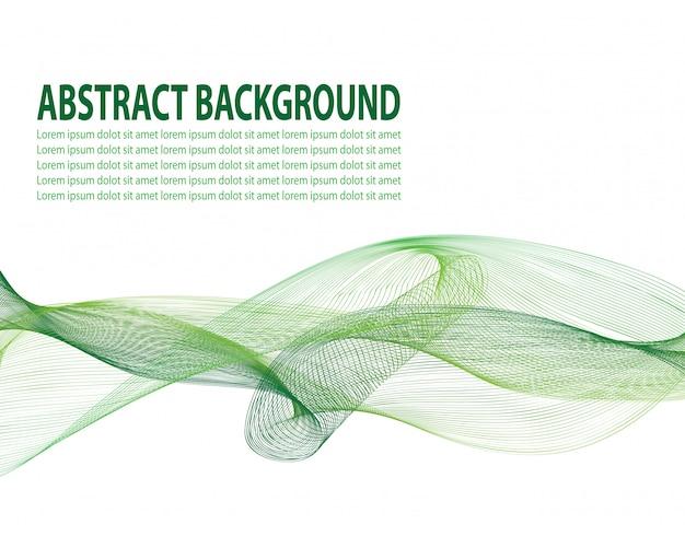 Vetor abstrato cor curvada linhas de fundo: verde
