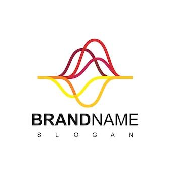 Vetor abstrato de design de logotipo de gráfico comercial