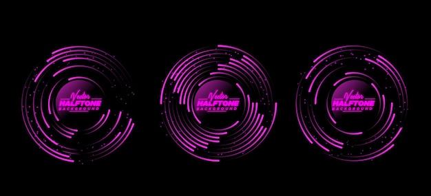 Vetor abstrato de meio-tom de néon