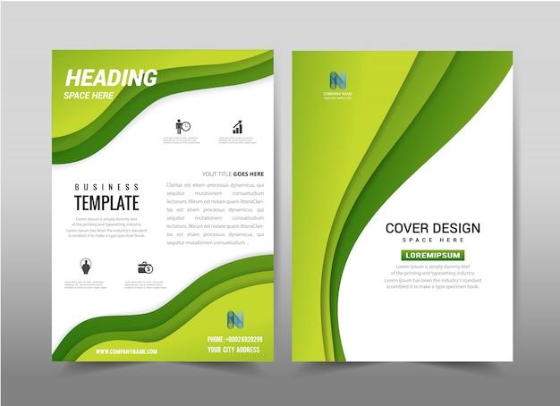 Vetor abstrato design de modelo de folheto folheto.