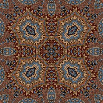 Vetor abstrato étnico vintage sem costura padrão tribal fundo