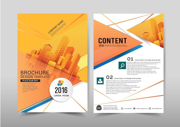 Vetor abstrato fundo brochura flyer modelo a4 tamanho design.