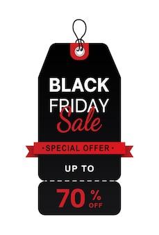 Vetor abstrato fundo preto de layout de venda na sexta-feira