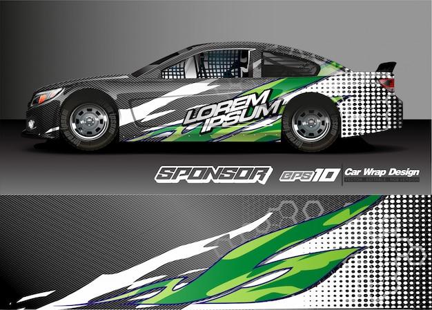 Vetor abstrato para corridas de carro envoltório design e decoração do veículo