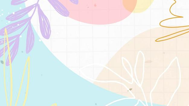 Vetor abstrato pastel de memphis com padrão de fundo