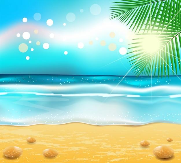 Vetor abstrato praia fundo