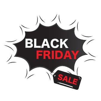 Vetor abstrato preto sexta-feira venda layout fundo tag banner publicidade