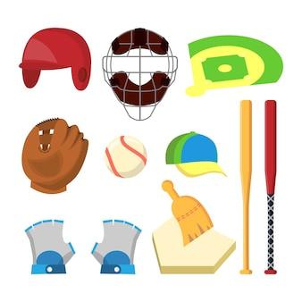 Vetor ajustado ícones do golfe. acessórios de golfe. copa, bandeira, grama, boné, vara, saco, carro
