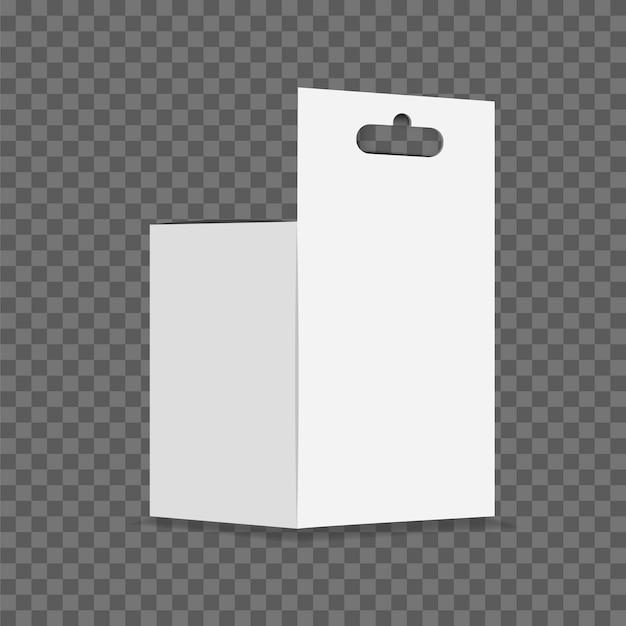 Vetor branco da lancheira do cartão no fundo transparente.
