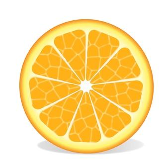 Vetor cítrico laranja