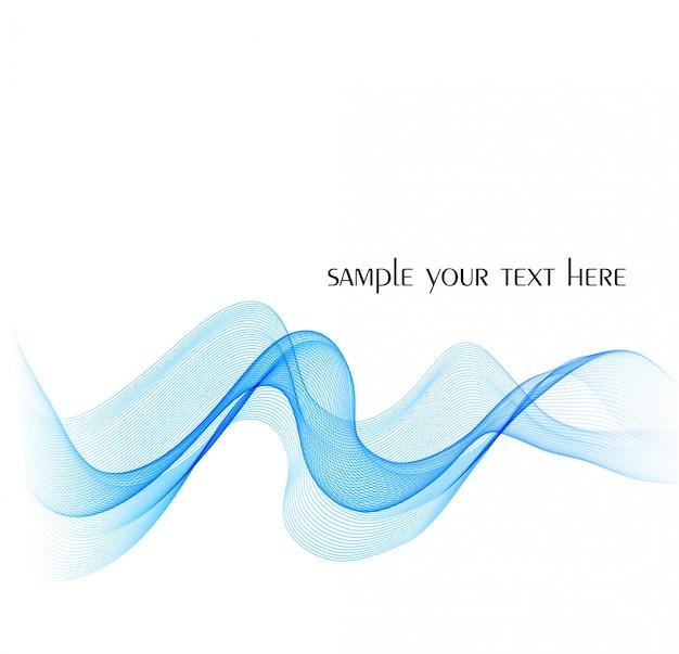 Vetor colorido abstrato azul acenado fundo