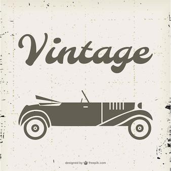Vetor conversível do vintage livre