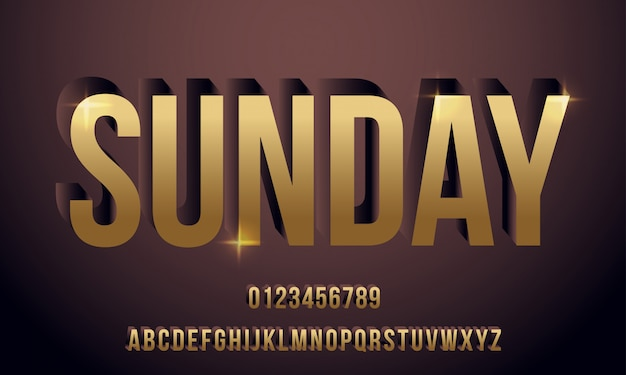 Vetor da pia batismal e alfabeto modernos corajosos, carácter tipo, letras e números, tipografia. - vetor