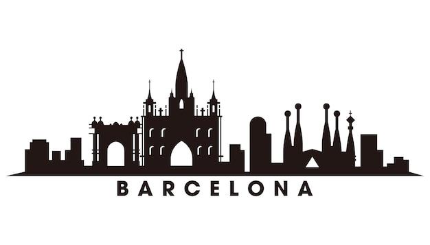 Vetor da silhueta do horizonte de barcelona