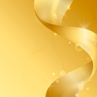Vetor de abstrato de onda dourada