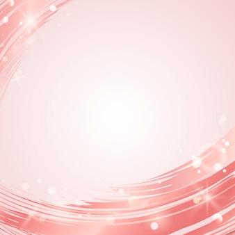 Vetor de abstrato de onda rosa