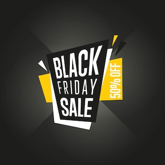 Vetor de adesivo de venda sexta-feira negra isolado