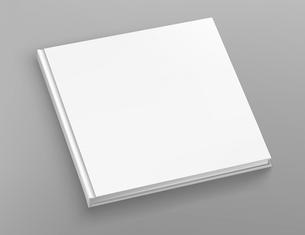 Vetor de álbum de livro quadrado de capa dura branca