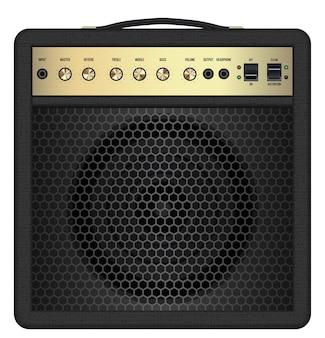 Vetor de amplificador de guitarra preto clássico real